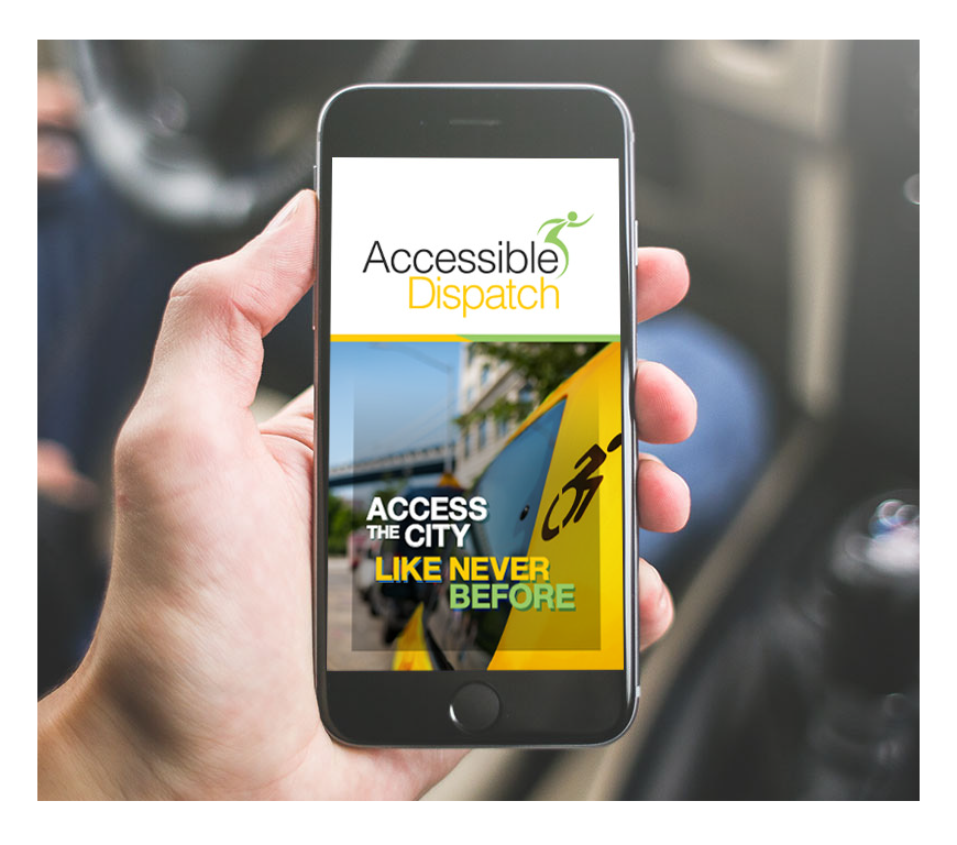 Accessible Dispatch NYC App on WAV rider's phone